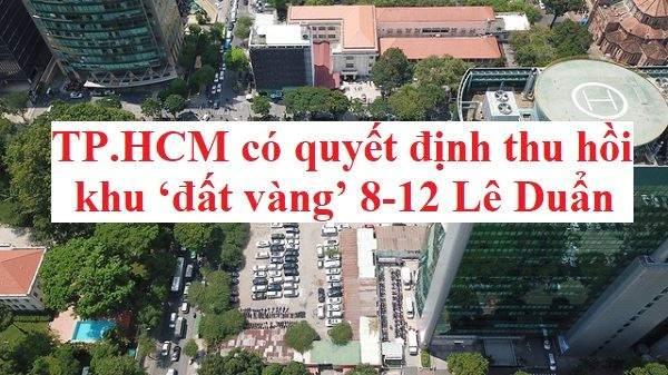 Khu đất số 8-12 đường Lê Duẩn (Q.1, TP.HCM) rộng gần 5.000m2 có giá thuê 291.000 đồng/m2/tháng - Ảnh: QUANG ĐỊNH